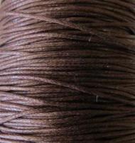 2 meters Genuine Dark Brown waxed Cotton Cord 1.mm