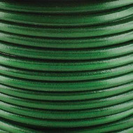 2 meters Genuine Round Leather Cord Green 1.5mm