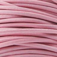 2 meters Genuine Round Leather Cord Lt. Pink 1.5mm