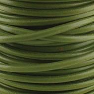 2 meters Genuine Round Leather Cord Pistachio 1.5mm