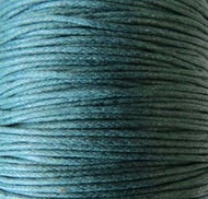 2 meters Genuine Teal waxed Cotton Cord 1.mm