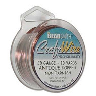 20 Ga Non Tarnish Antique Copper Craft Wire Round 10yd Spl