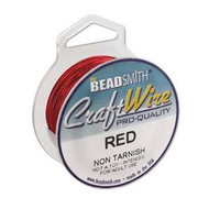 20 Ga Non Tarnish Red Craft Wire Round 10yd Spl