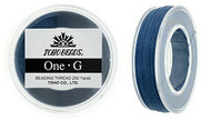 250 Yards Spool Toho One-G Thread Blue