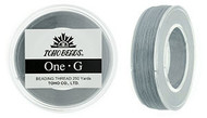 250 Yards Spool Toho One-G Thread Grey
