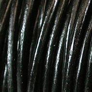 3mm  Black Round Leather