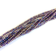 3mm Chinese Crystal faceted Iris Amethyst AB Rondelle Beads