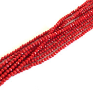 3mm Chinese Crystal faceted Rondelle Beads