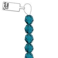 4mm Czech Aquamarine fire Polished Glass beads