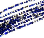 4mm Czech Blue Silver FP Glass Beads