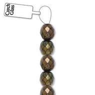 4mm Czech Brown Iris  fire Polished Glass beads