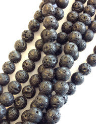 4mm Gemstone Round natural Lava Beads