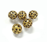 5 gold plated bead spacers