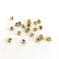 5mm Antique Gold Plated Crimp Bead Cover 50PCS