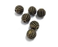 6 8mm bronze bead Spacers