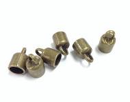 6 Bronze kumihimo end caps 1