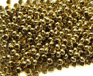 6/0 Fine Brass Metal Seed beads 10 Gram Bag