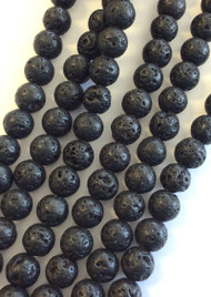 6mm Gemstone Round natural Lava Beads