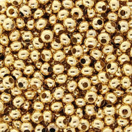 8/0 24 karat Gold Plated Seed beads 10 Gram Bag