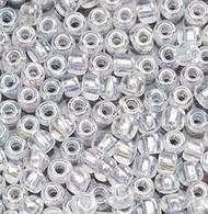 8/0 Japanese Crystal AB Glass Beads 15 Gram Bag