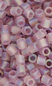 8/0 Japanese Matte Lt. Amethyst AB Hex Beads 15GM