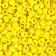 8/0 Japanese Opaque yellow Glass Seed beads 15 Gram