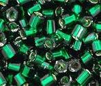 8/0 Japanese S/L Green Emerald Hex Beads 15GM