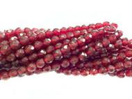8mm Czech Garnet Red Fire Polished Glass beads