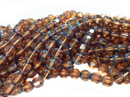 8mm Czech Topaz Picasso cathedral Fire Polished Glass beads