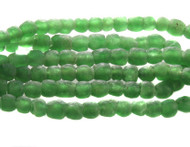 African Emerald Green Recycled Glass Handmade Natural Beads