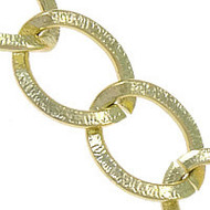 Aluminum Open Gold Plated twist oval chain