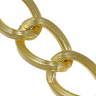 Aluminum Open Gold Plated twist oval chain 1
