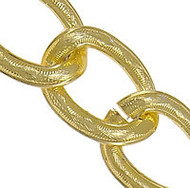 Aluminum Open Gold Plated twist oval chain 2