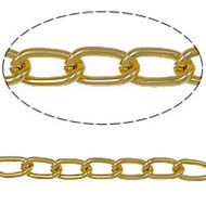 Aluminum Open Gold Plated twist oval chain 3