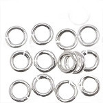 Anthentic 7mm Sterling Silver round Split Rings