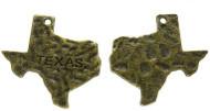 Antique Brass Harmed Texas Charm Pendant