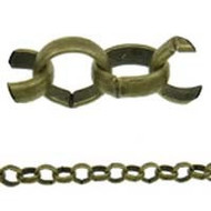 Antique Brass Plated Rolo Chain