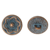 Antique Copper etched shank Metal Button