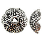 Antique Silver Flower Bead Caps 1