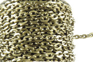 Base metal Antique Brass Flat cable Chain