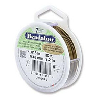 Beadalon 7strd .018 Antique Satin Brass 30Ft