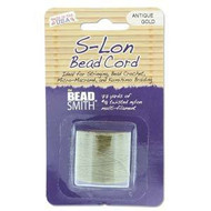 BeadSmith S-lon Bead Cord Antique Gold 77 Yards