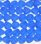 Blue matte Czech Glass Beads