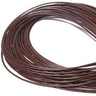 Brown Round Leather cord 1.5mm