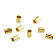 Crimp Tube 2X2mm Gold plated