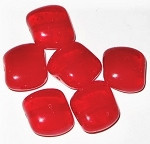 Czech Cherry Red pressed glass beads
