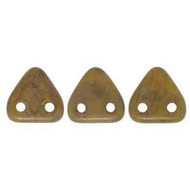 Czech Glass Triangle 2Hole 6mm Chart Copper Picasso 7 Gram