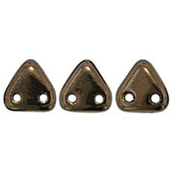 Czech Glass Triangle 2Hole 6mm Dark Bronze 7 Gram