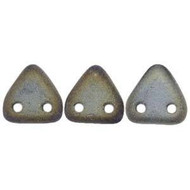 Czech Glass Triangle 2Hole 6mm Matte Iris Brown 7 Gram