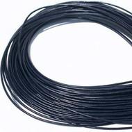 Dark Blue Round Leather cord 1.5mm